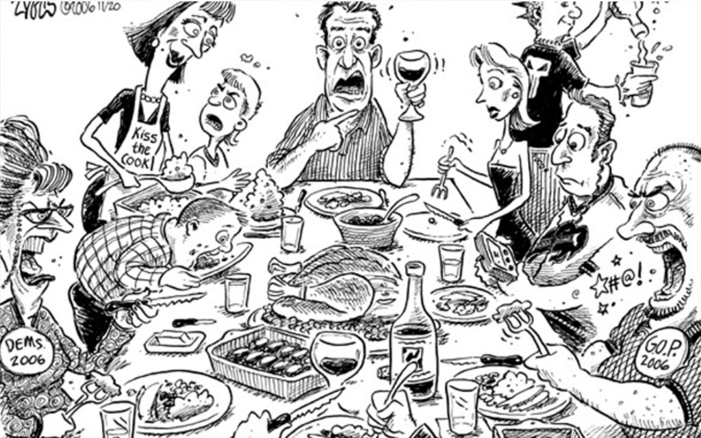 Christmas dinner cartoon