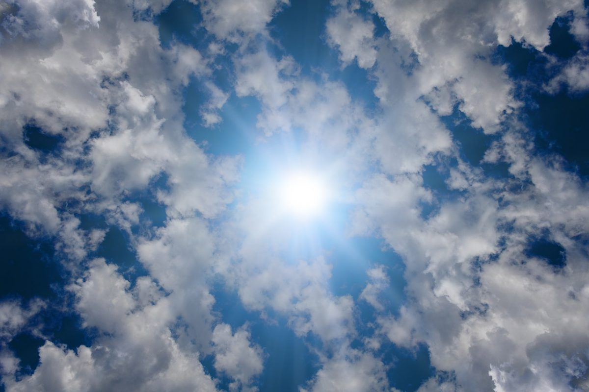 sunshine through clouds - see for mile hypnotherapy image